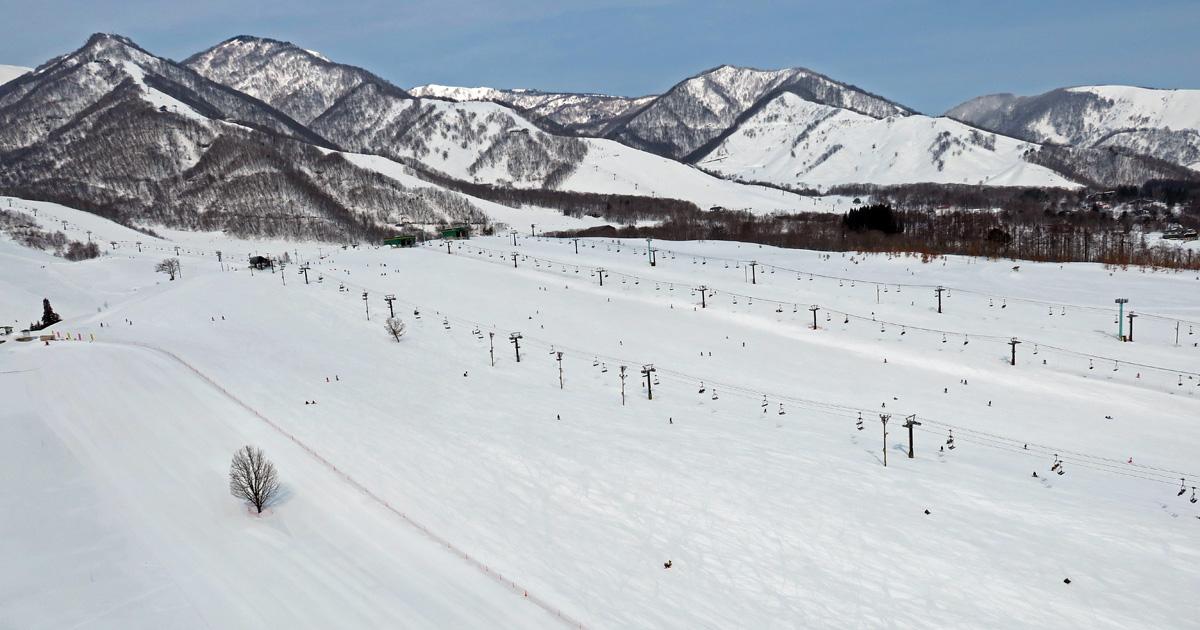 栂池高原スキー場 パラグライダートーイング